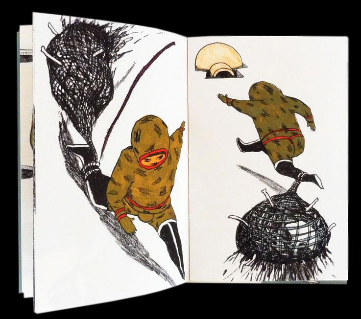 Anke-Feuchtenberger, Die Skelettfrau, Inuit-Märchen, Büchergilde Gutenberg