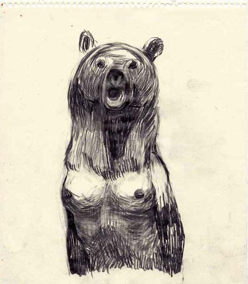 Anke Feuchtenberger, Bärin, Zeichnung