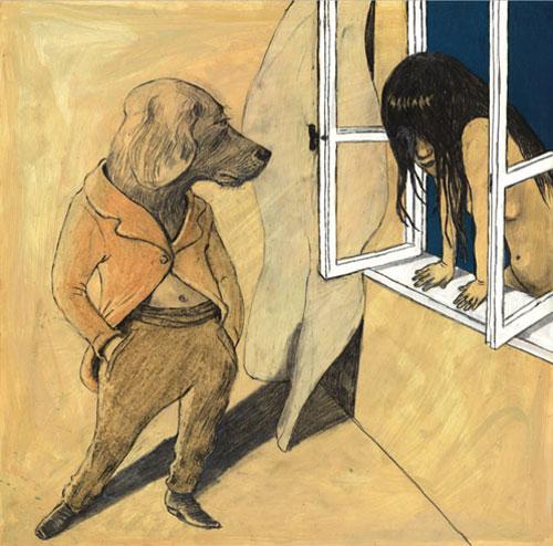 Anke Feuchtenberger,Fenster, Zeichnung