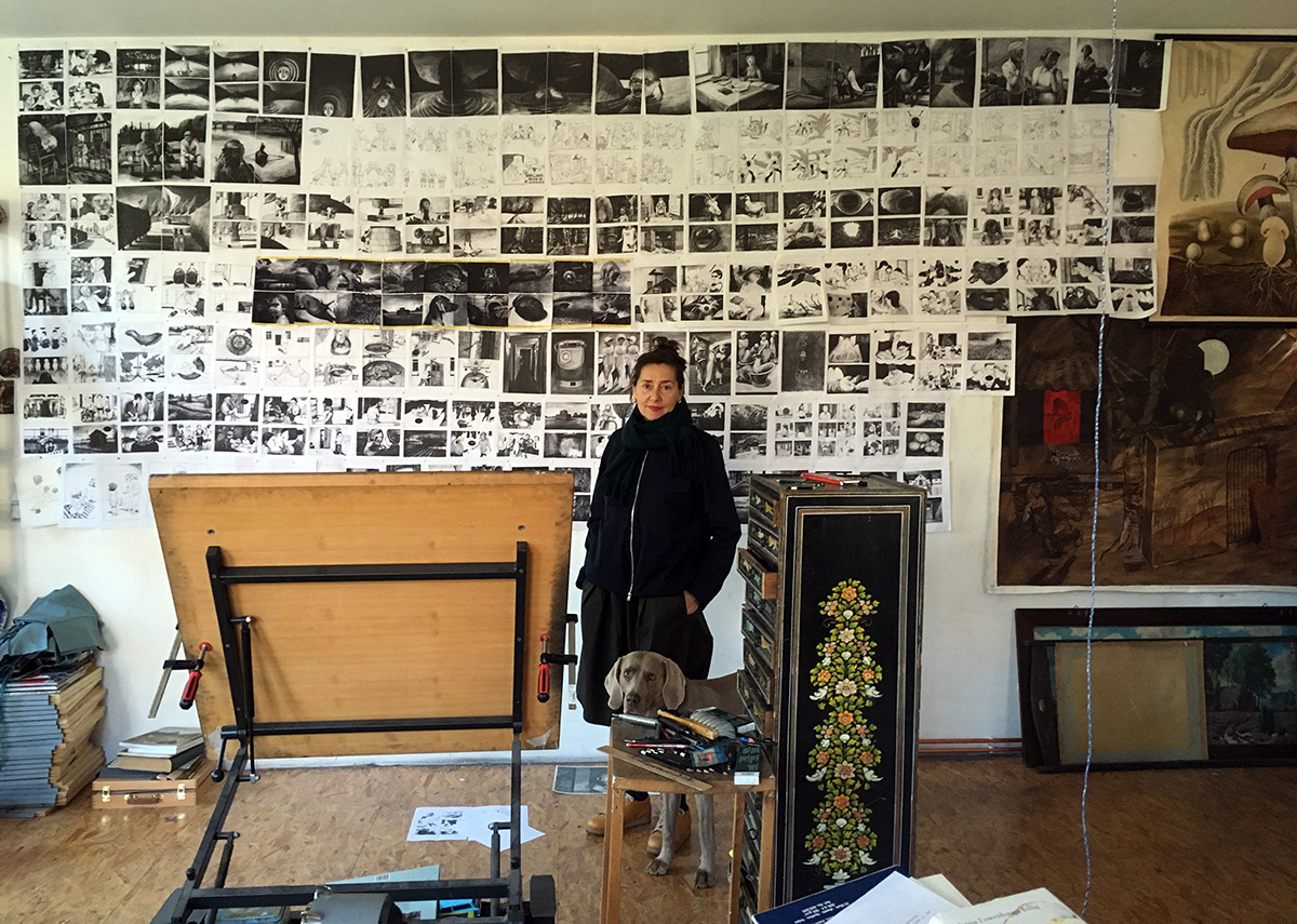 Anke Feuchtenberger, portrait, studio